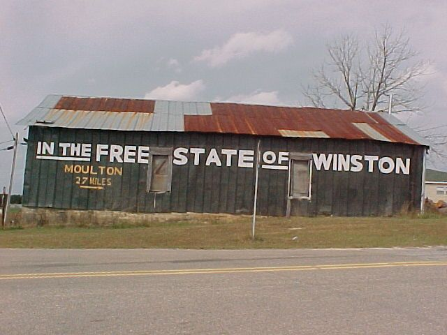 I have passed this barn many times! Winston Co Alabama!