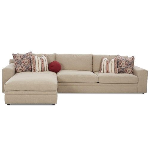Klaussner Casa Mesa Casual 2 Piece Sectional Sofa with Chaise and