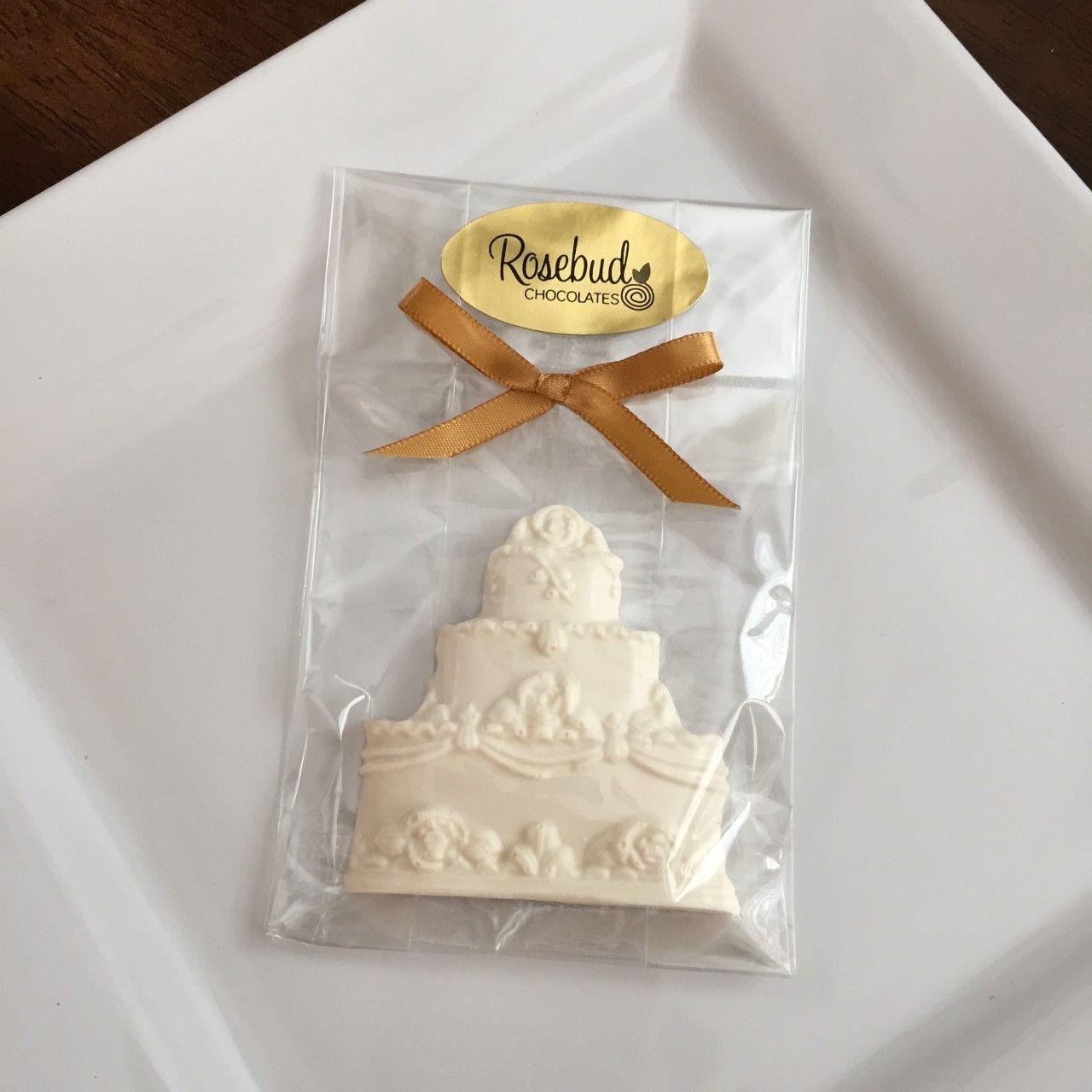 White Chocolate Wedding Cake Candy Party Favors, Wedding, Birthday ...