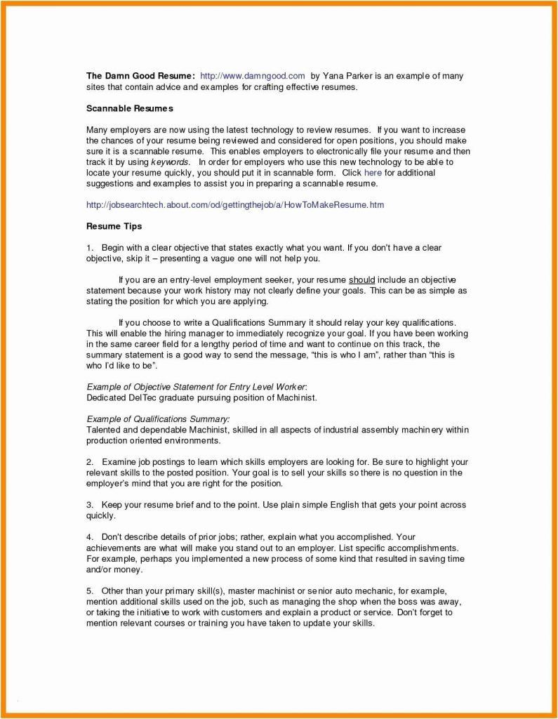 Blank Resume form for Job Application Elegant Resume