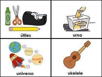 Cosas Con La U Jpg 350 263 Tarjetas De Vocabulario En Espanol Imagenes De Las Vocales Alfabeto Preescolar