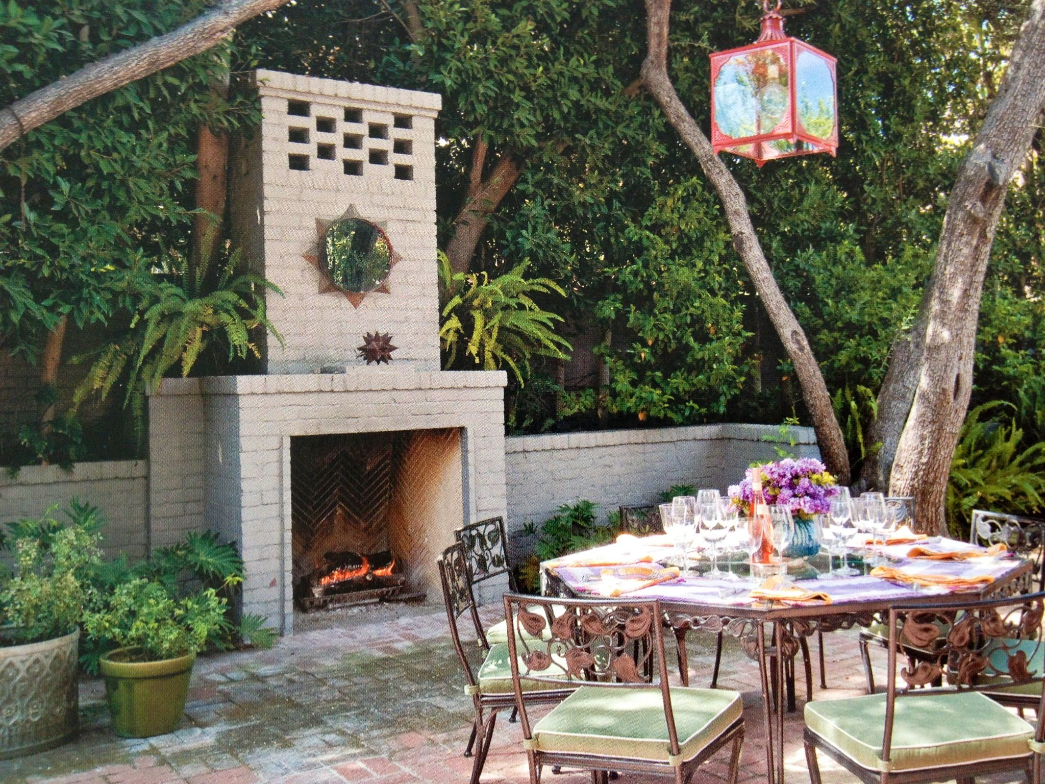 Goldwater House Patio Fireplace Designed By Virgil Mcdowell From