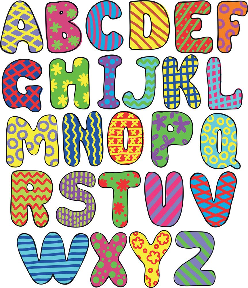 cuadro de abecedario para niños letras de arte infantil