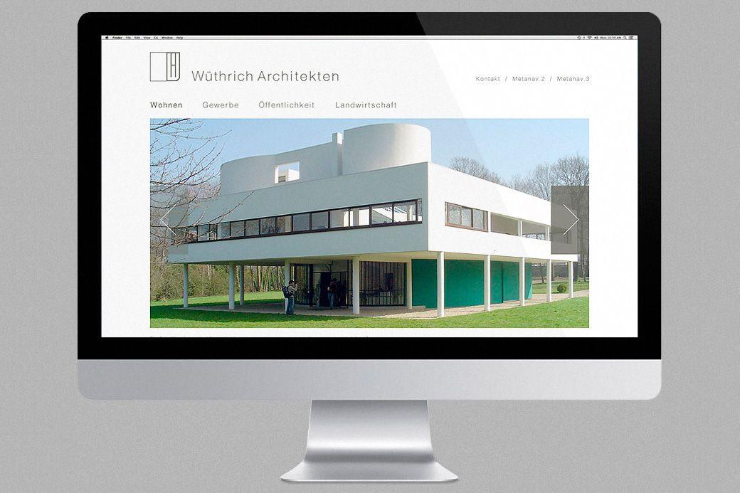 Webdesign en coopération avec RAPTUS AG http://www.wuethrich-arch.ch/