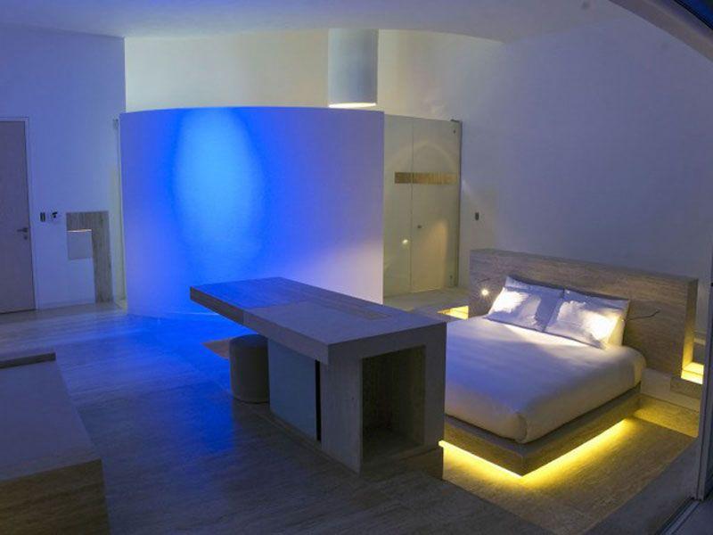 toemoss wallpaper 132-futuristische-schlafzimmer-deko - wandgestaltung schlafzimmer effektvolle ideen