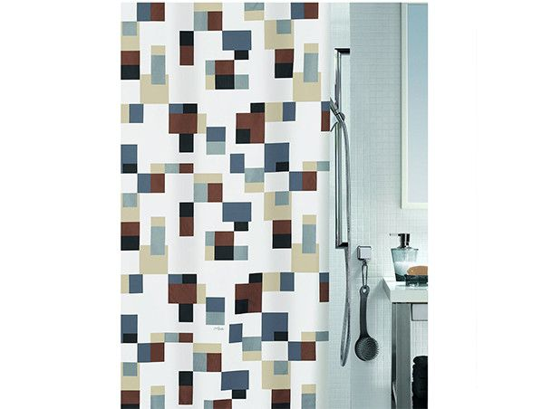 Buy Show Curtains in Pixel Grey Brown online Shower Curtains