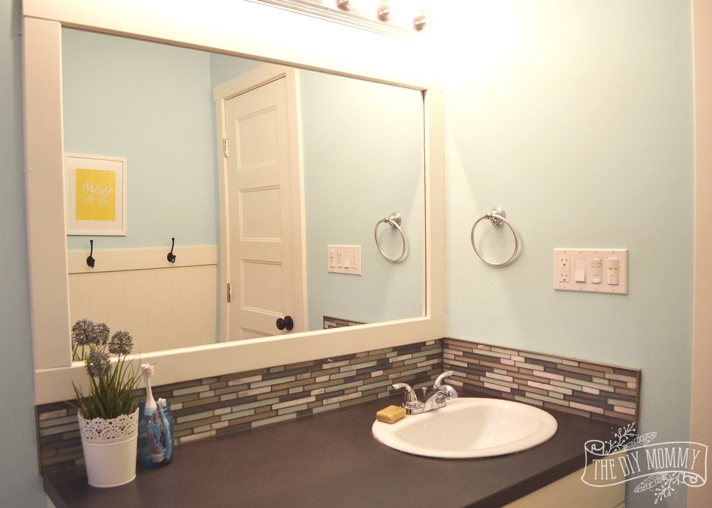 A Happy Yellow & Aqua Kids\' Bathroom | Idea paint, Kid bathrooms and ...