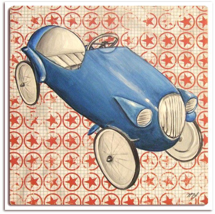 Très Joli Tableau Pour Chambre Enfants,tableau Voiture Rétro Ancienne Bleu,  Idéal Pour Chambre Garçon, Décoration Murale,voiture Bleu Enfant,idée  Cadeau ...
