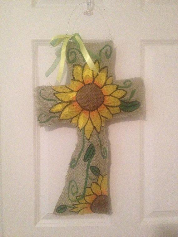 Sunflower Wood Door Hanger