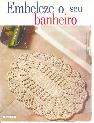 Croche e Cia: Tapete Oval de Barbante | образцы | Pinterest ...