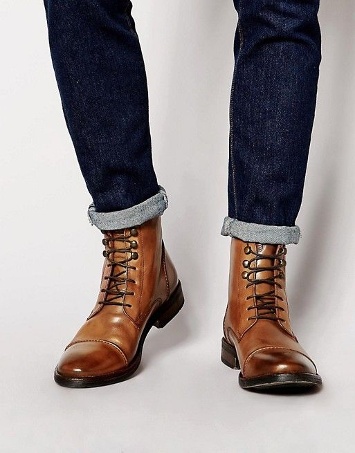 2017 Cheap Base London Brocket Tan Men Casual Boots & Shoes