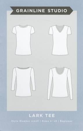 Make your own t-shirt! Grainline Studio Lark Tee Sewing Pattern ...