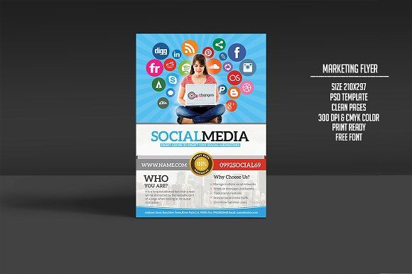 Social Media Marketing Flyer Marketing Flyers Business Flyers And