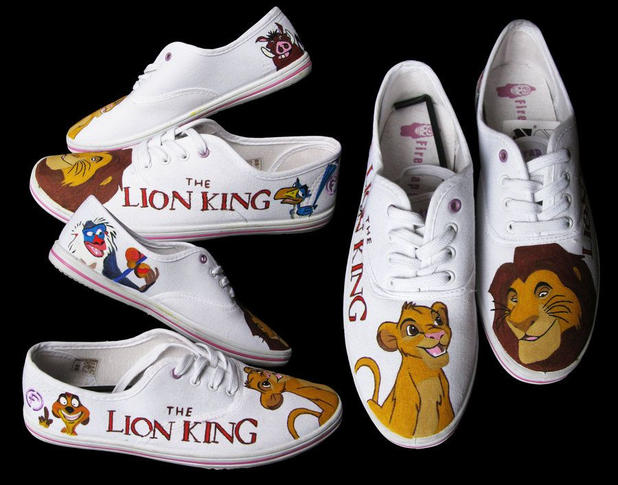 Customized handpainted 'The Lion King' shoes and more on www