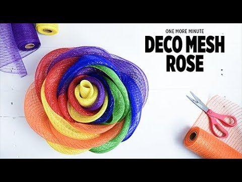 One More Minute: Deco Mesh Rose
