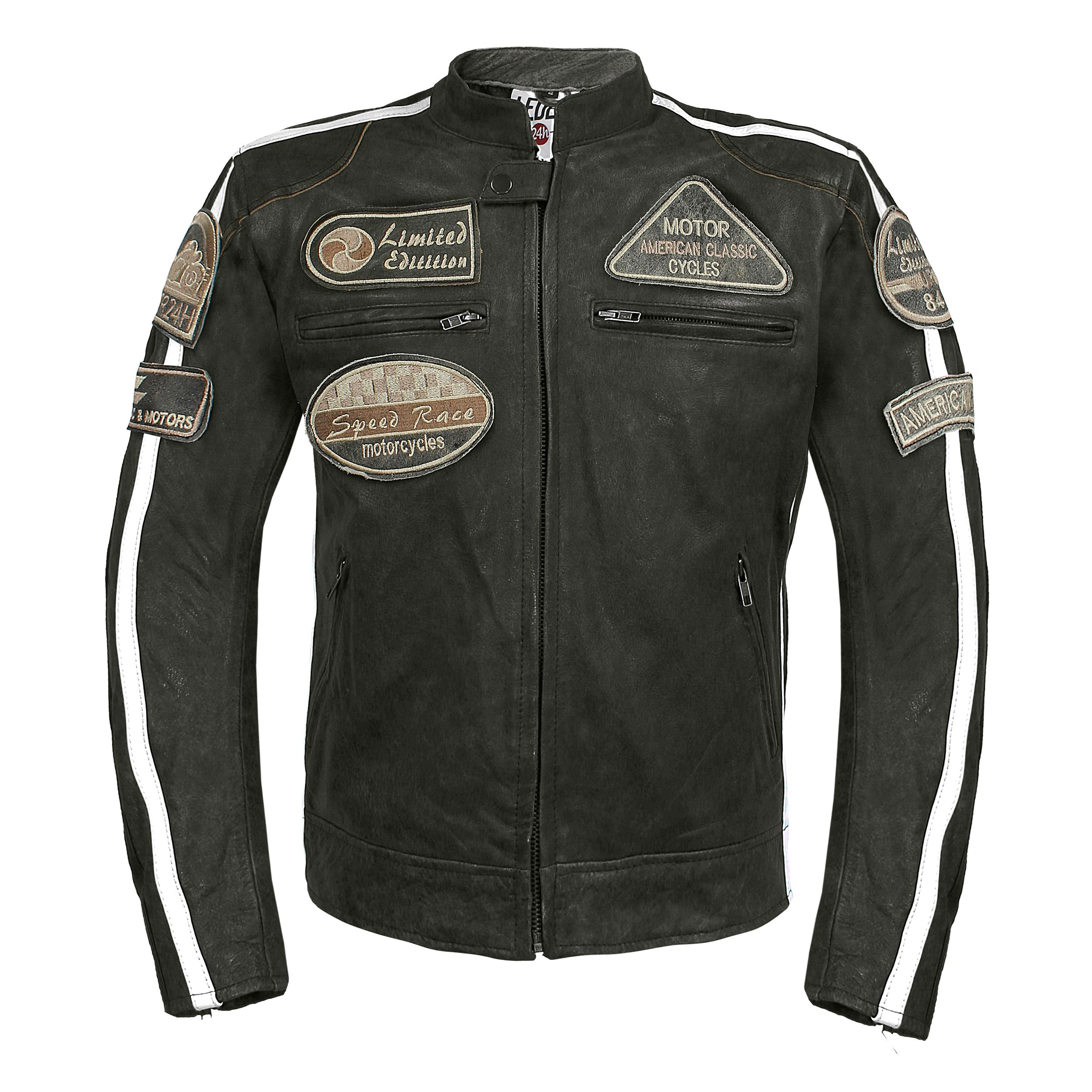 leder24h Motorrad Lederjacke mit Protektoren 2070