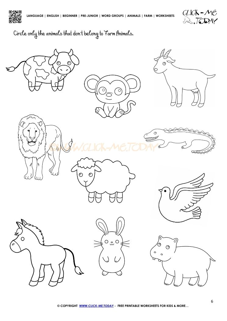 farm animals worksheet activity sheet 6 kindergarten worksheets animal worksheets. Black Bedroom Furniture Sets. Home Design Ideas