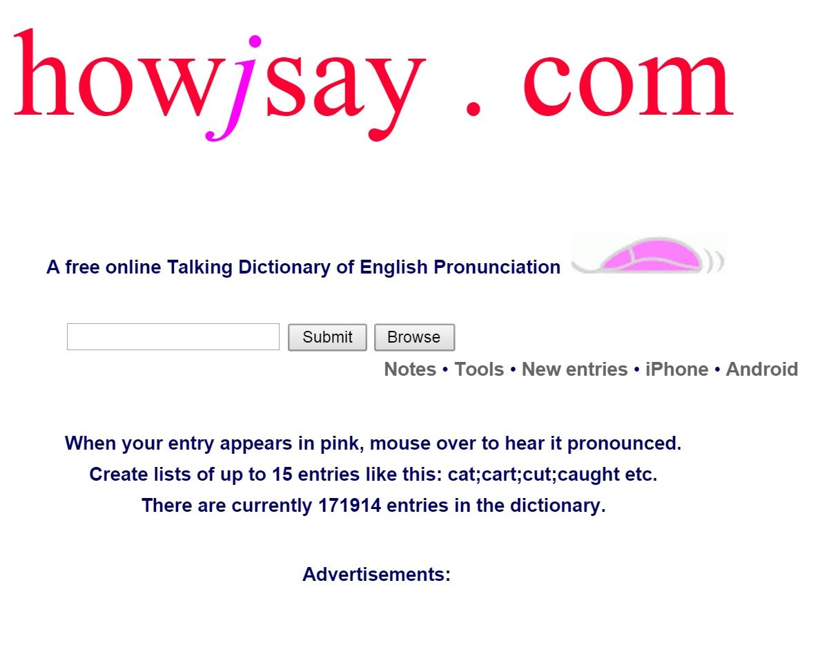 Free online Dictionary of English Pronunciation - How to Pronounce
