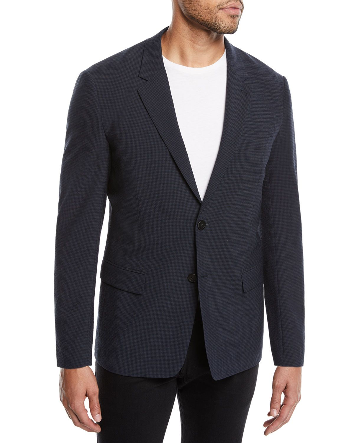 849492a3f9a THEORY MEN'S GANSEVOORT FUNCTION SEERSUCKER JACKET. #theory #cloth ...