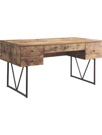 Coaster Company Home Furnishings Desk Antique Nutmeg Black