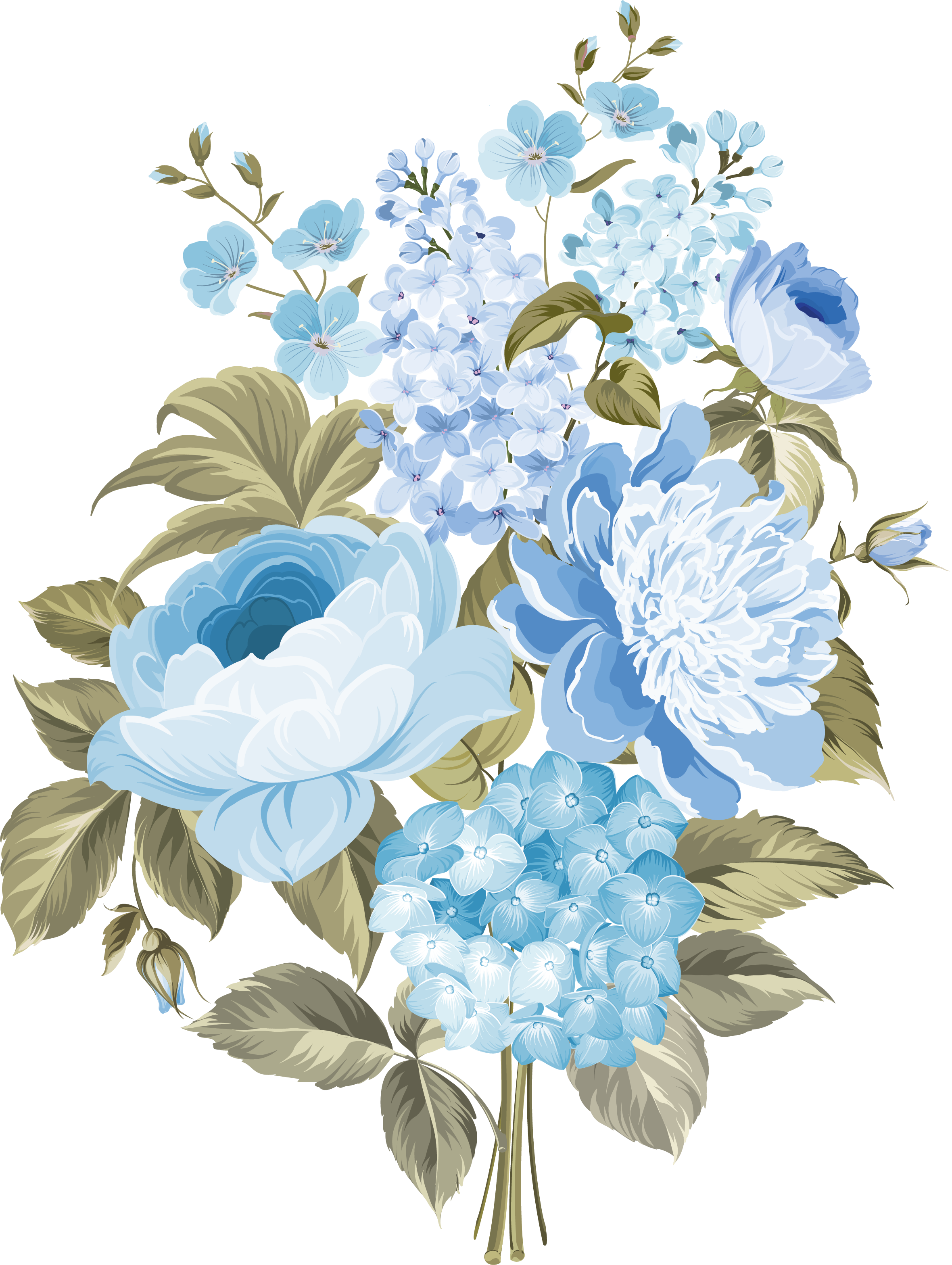 my design / blue flowers Design aquarela, Papel de