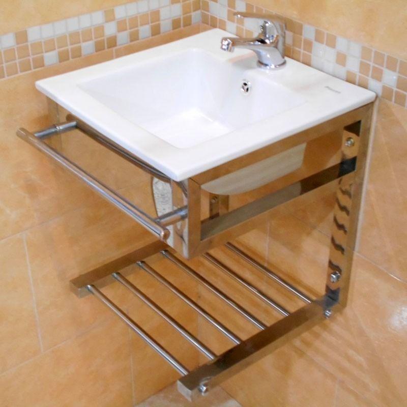 Mueble baño acero bacha para colgar monocomando loza piazza