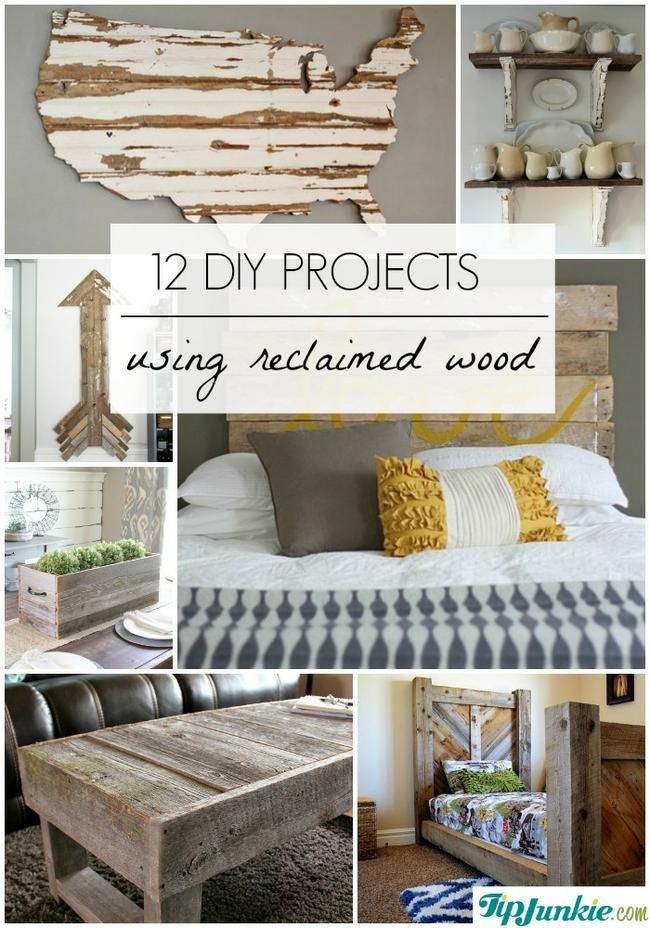 12 DIY PROJECTS USING RECLAIMED WOOD - 12 DIY PROJECTS USING RECLAIMED WOOD DIY Craft ž� Pinterest