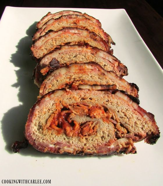 Cooking with Carlee: K.C.'s Award Winning Turkey Bacon Explosion #SundaySupper