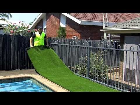 Realgrass At Home Depot Synthetic Artificial Turf Installation Youtube Backyard Diy Synthetic Grass