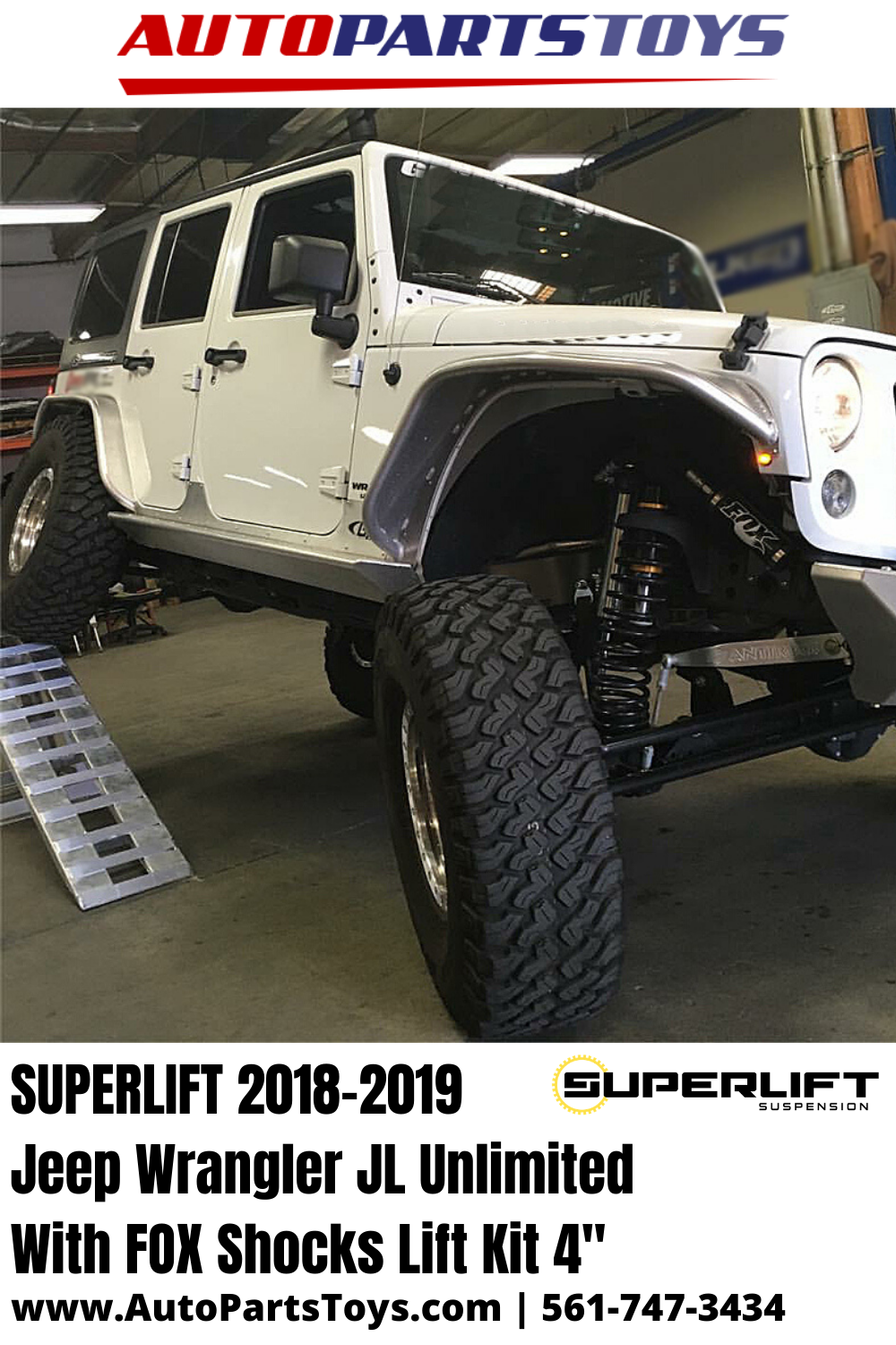 Superlift 2018 2019 Jeep Wrangler Jl Unlimited With Fox Shocks Lift Kit 4 In 2020 Lift Kits Wrangler Jl Jeep Wrangler