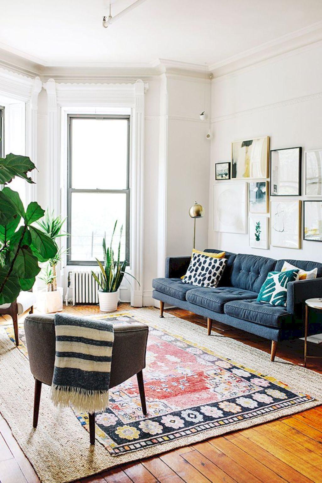 55 Gorgeous Bohemian Style Living Room Decor Ideas | Bohemian style ...