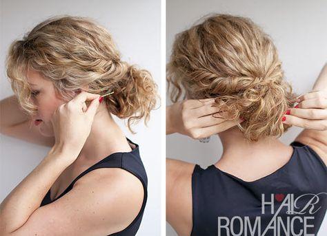 Raccogliere capelli ricci