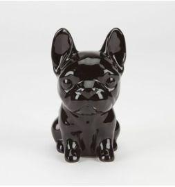 French Bulldog Black Ceramic Statue Frenchie Decor Bulldog Statue Ceramics