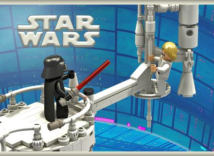 Lego Star Wars I M Your Father Scene Cloud City Duel Lego Star Wars You Are The Father Cloud City