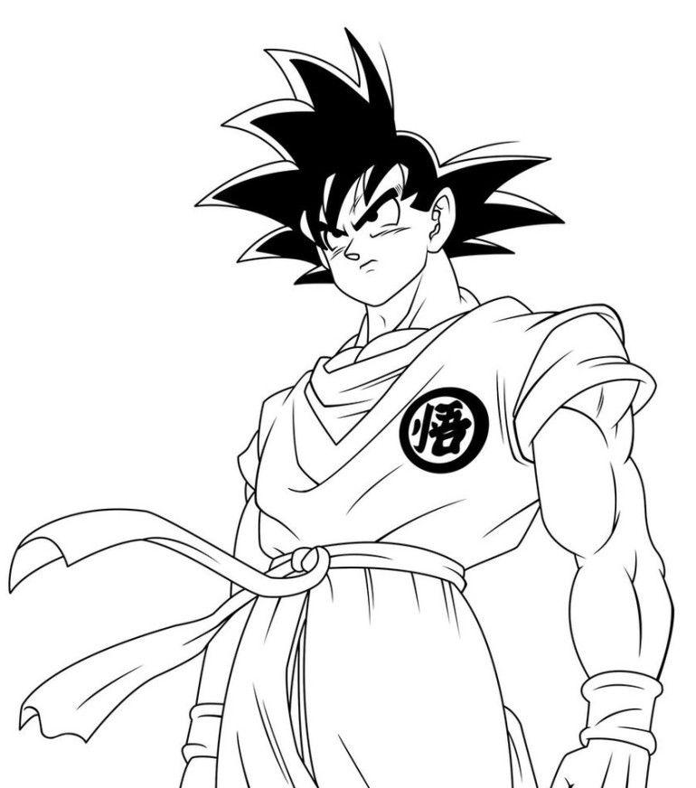 Super Saiyan Goku Coloring Pages Cartoon Coloring Pages Super Coloring Pages Monster Coloring Pages