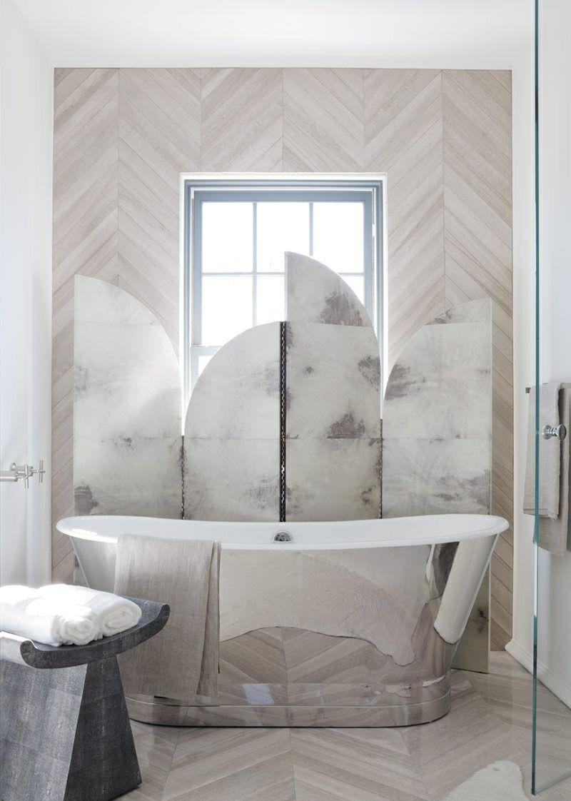 Moderne Wandgestaltung im Bad – 30 Ideen und Beispiele #beispiele ...