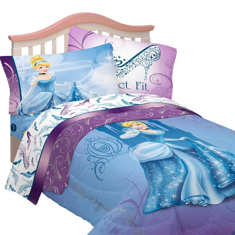Let The Ball Begin With Disney Cinderella Perfect Fit Twin Bedding Set Description From