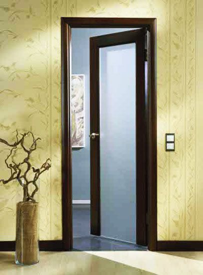 Wonderful Wood Interior Door With Frosted Glass Insert