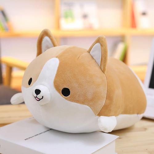 40CM Cute Fat Shiba Inu Corgi Doll Pillow Dog Plush Toy Stuffed Kawaii Cartoon