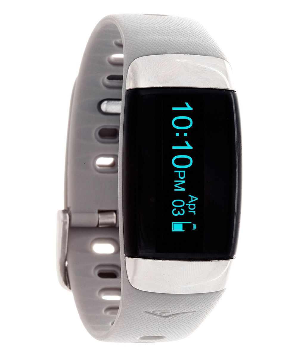 Gray tr7 activity tracker heart rate monitor wristband