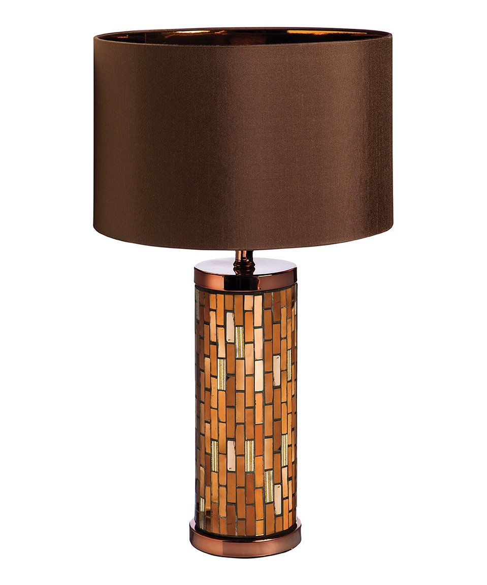 Featuring Warm Earth Tones And An Expertly Crafted Mirrored Base, This Lamp  Sheds Warm Light On Cozy Nights While Adding An Eye Catching Visual Accent  To ... Amazing Design