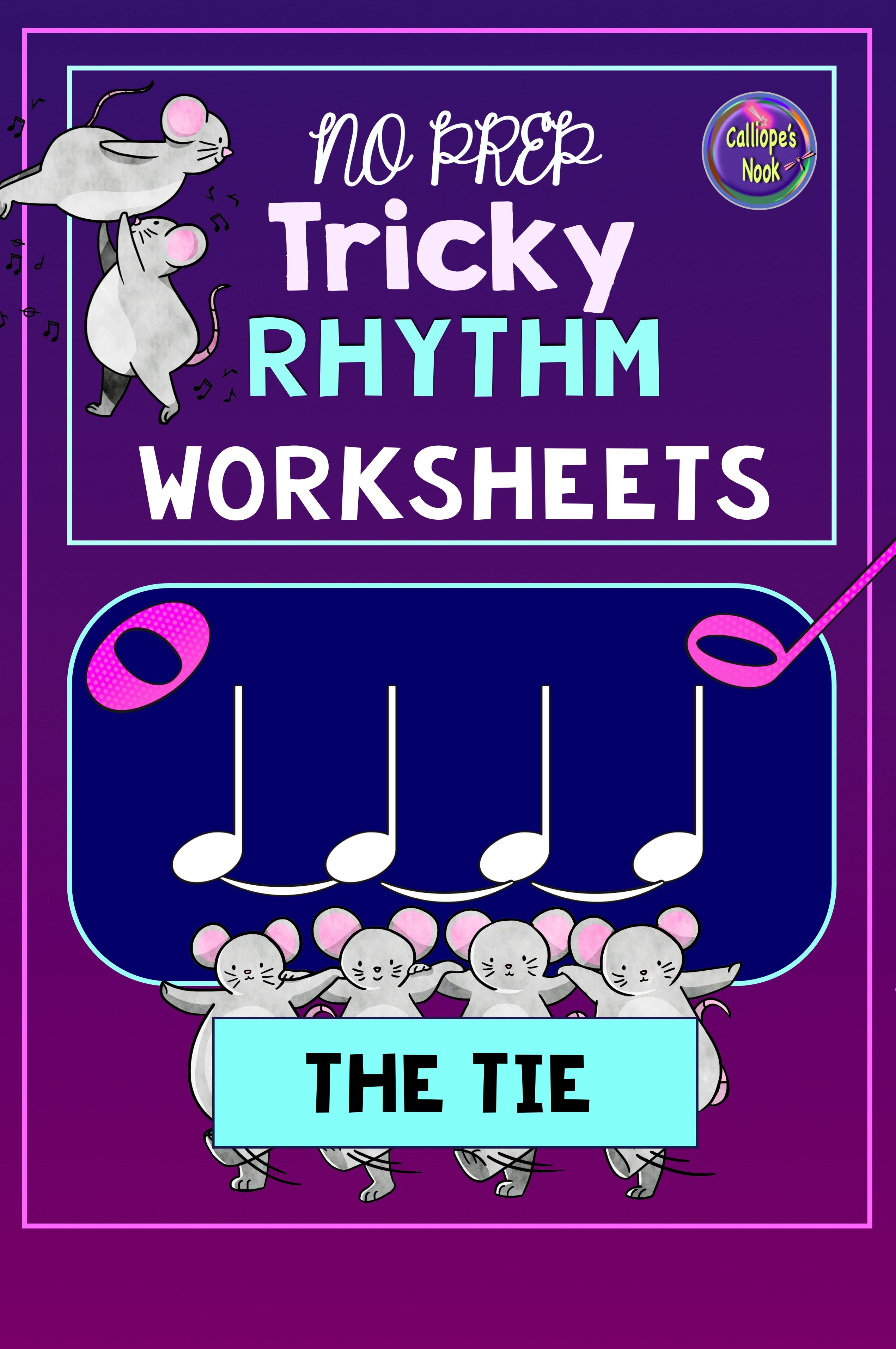 Music Rhythm Worksheets Tie Amp Half Amp Whole Notes