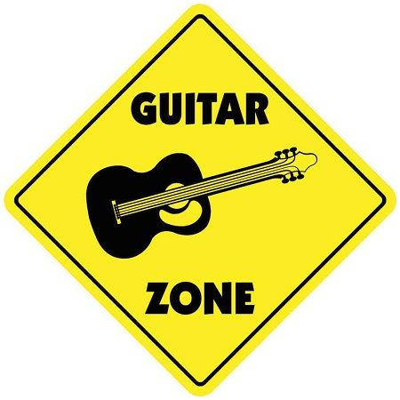 Guitar Zone Sign! This is a great gift for the guitar player in your life! Decorate their room or music room with their very own sign!