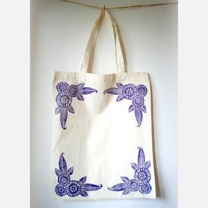 Block Printed Tote Bag now featured on Fab.