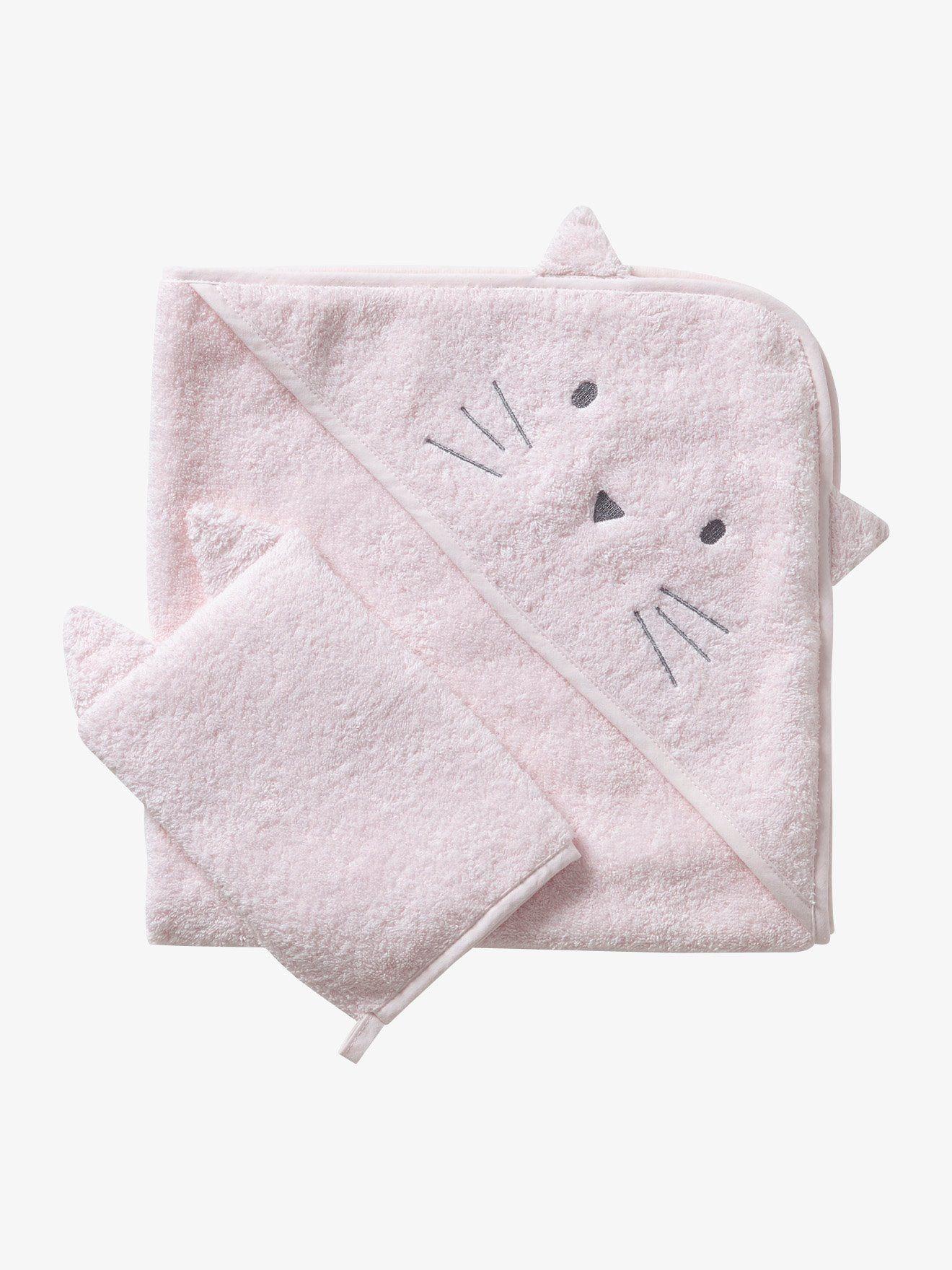 Bain Lapins Souris Gant de bain en coton blanc cr/ème