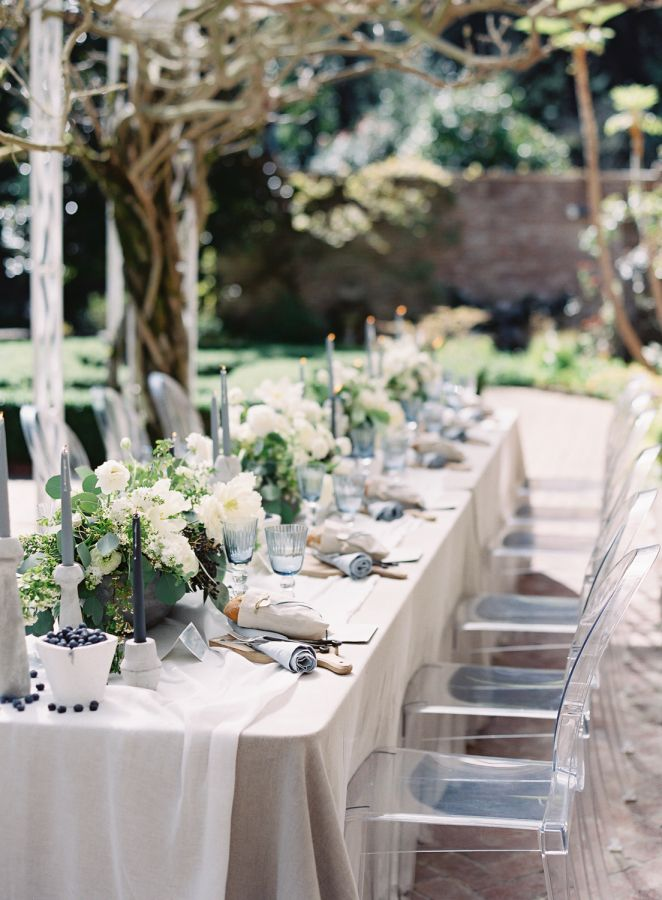The most beautiful wedding workshop wedding tables table decor ghost chairs neutral and soft blue table decor httpstylemepretty20160830sinclaire moore workshop with omalley photographers photography junglespirit Image collections