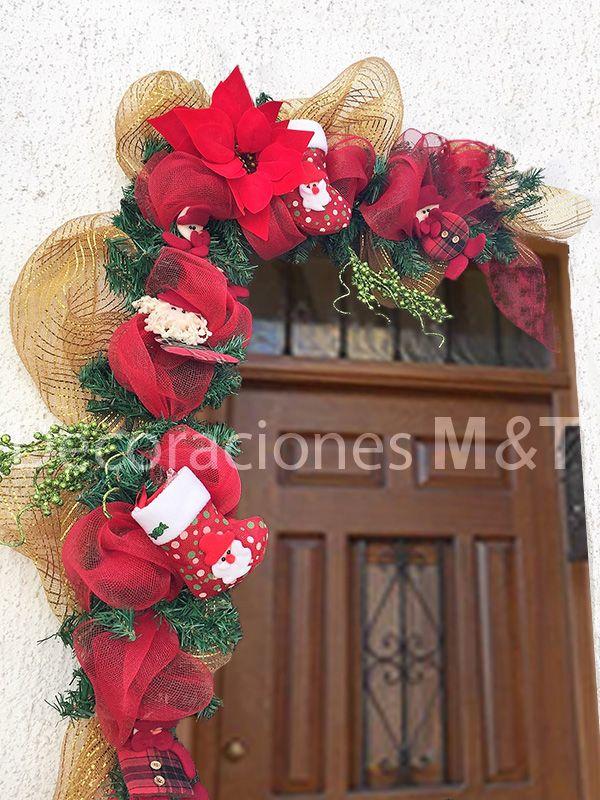 guirnalda de navidad ideal para decorar marco de puertas