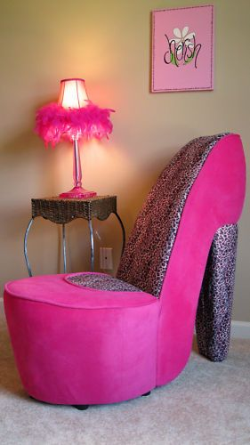 New Pink And Leopard High Heel Shoe Chair Love It Pink Pink And
