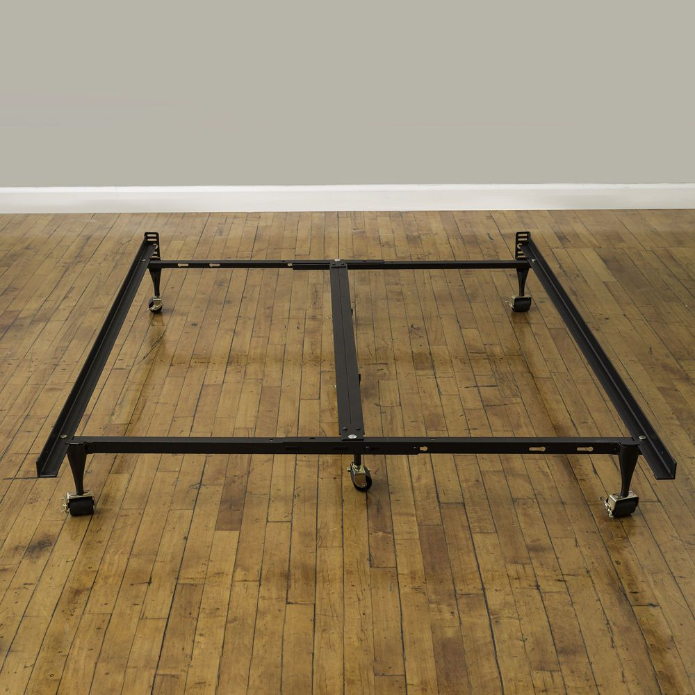 King Size Metal Bed Frame Adjustable to Multiple Sizes Box