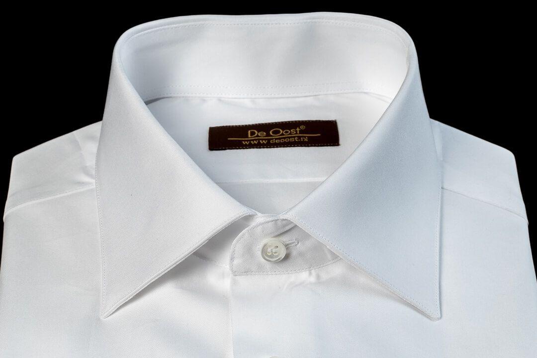 Handgemaakt Overhemd Heren Bespoke Klassiek Wit Formeel